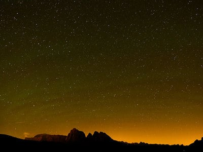 The stars above the Dolomites