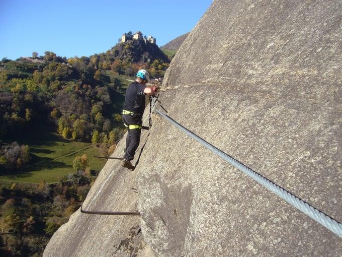 Klettersteig Hoachwool : Am hoachwool klettersteig unterwegs vitalpina hotels südtirol