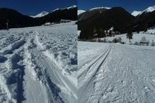 Auf den Spuren der Skitourengeher und Langläufer....