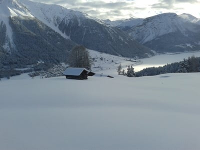 Super Schneebedingungen im Obervinschgau