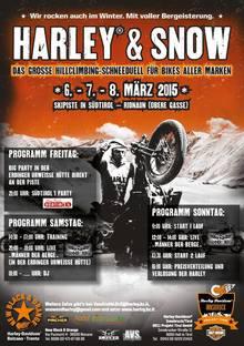Harley and Snow im Ridnauntal