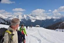 Escursione con le ciaspole alle malghe Pfinn (2150m)