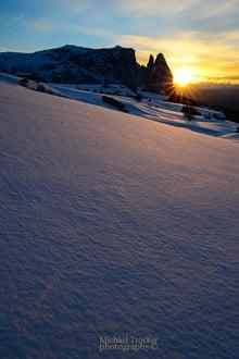 Sciare sotto il sole del Alpe di Siusi fino al 07.04.2015
