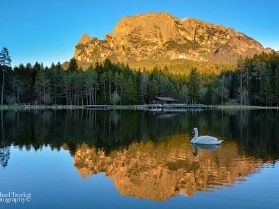 Swimming in Dolomite mountain lakes