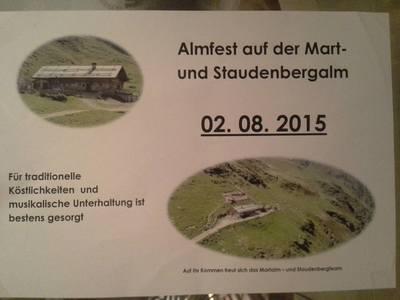 Almfest auf der Mart und Staudenbergalm