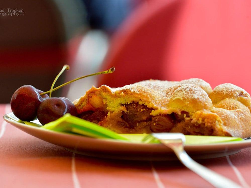 Cherry Strudel, Linzer, Buckwheat cake at Vitalpina Wanderhotel Europa