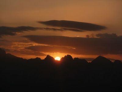 Sorgimento del sole sul Corno Bianco