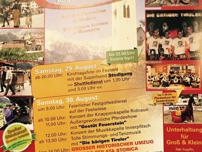 Ridnauner Kirchtag