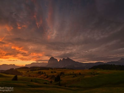 Heavy storms over the Dolomites
