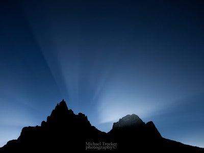 Giochi di luci nelle Dolomiti