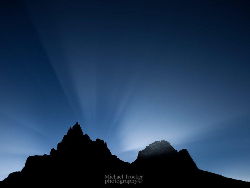 Lightning games over the Dolomites