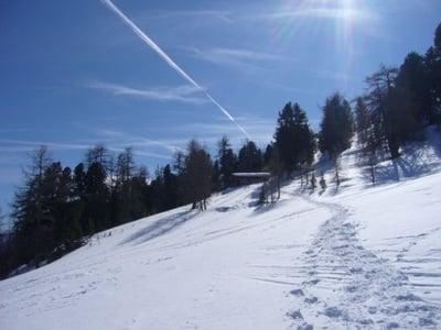 Schneeschuhwanderung zur Schliniger Kälberhütte