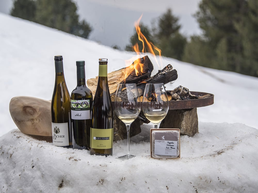 Weingenuss auf der Feldthurner Alm