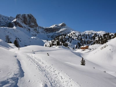 Un sogno invernale: la malga Cavallo (2164m) nella Valle Braies