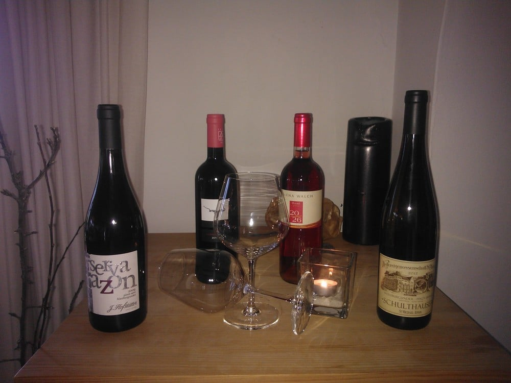 Südtiroler Wein im Vitalpina Hotel Pfösl