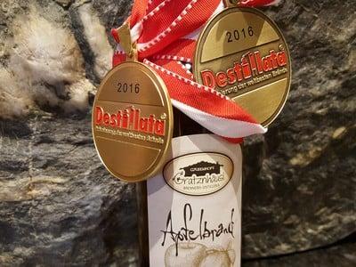 Goldmedaille bei der Destillata in Graz