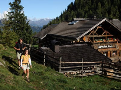 Short hike to the Gompm alpine hut