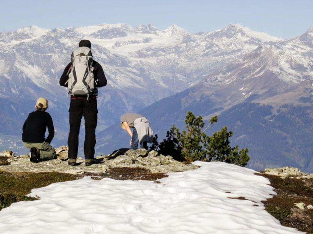 "Panoramic Circular Hiking Tour ""Stoaner Mandl"" in Jochtal/Valles"