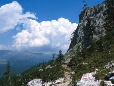 Eastern face of Croda Rossa di Sesto (Sextner Rotwand)