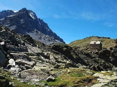Hike under Mount Ortler