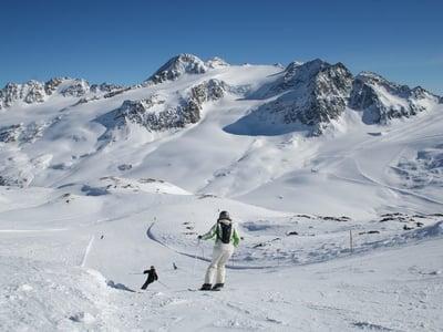Perfekter Schnee am Schnalstaler Gletscher