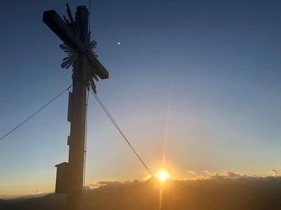 Sonnenuntergang auf der Riepenspitze