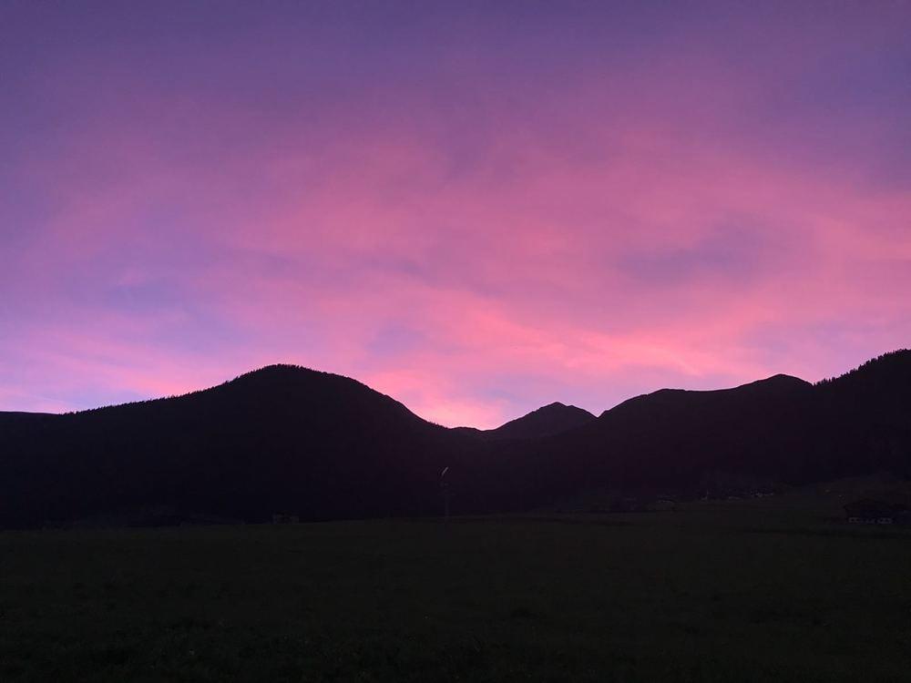 Sonnenuntergang im Gsieser Talschluss
