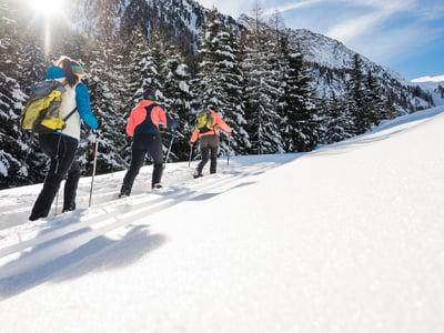 Wandern in wunderschönen Winterlandschaften
