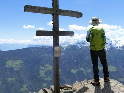 Breathtaking view over the Alta Via of Merano
