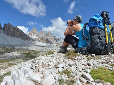 Singlewandern in den Dolomiten