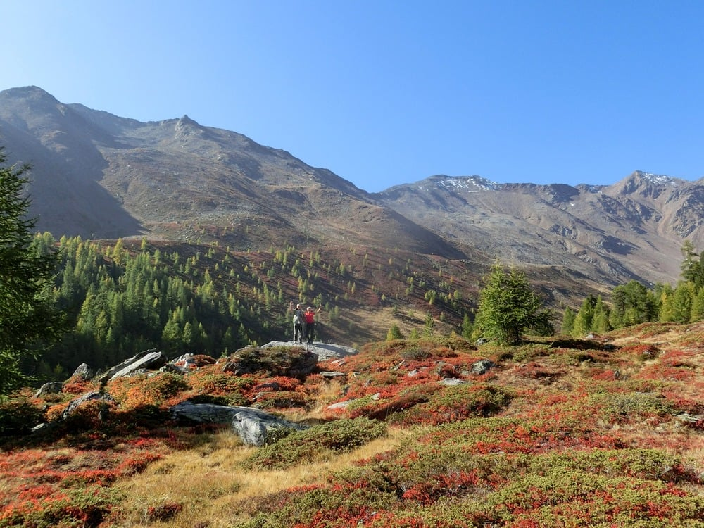 Fantastic autumn scenery in Val Senales