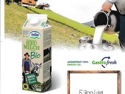 Sostenibilitá: latte & burro di produzione biologica
