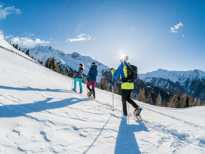 A paradise for snowshoeing: Val Pusteria, South Tyrol