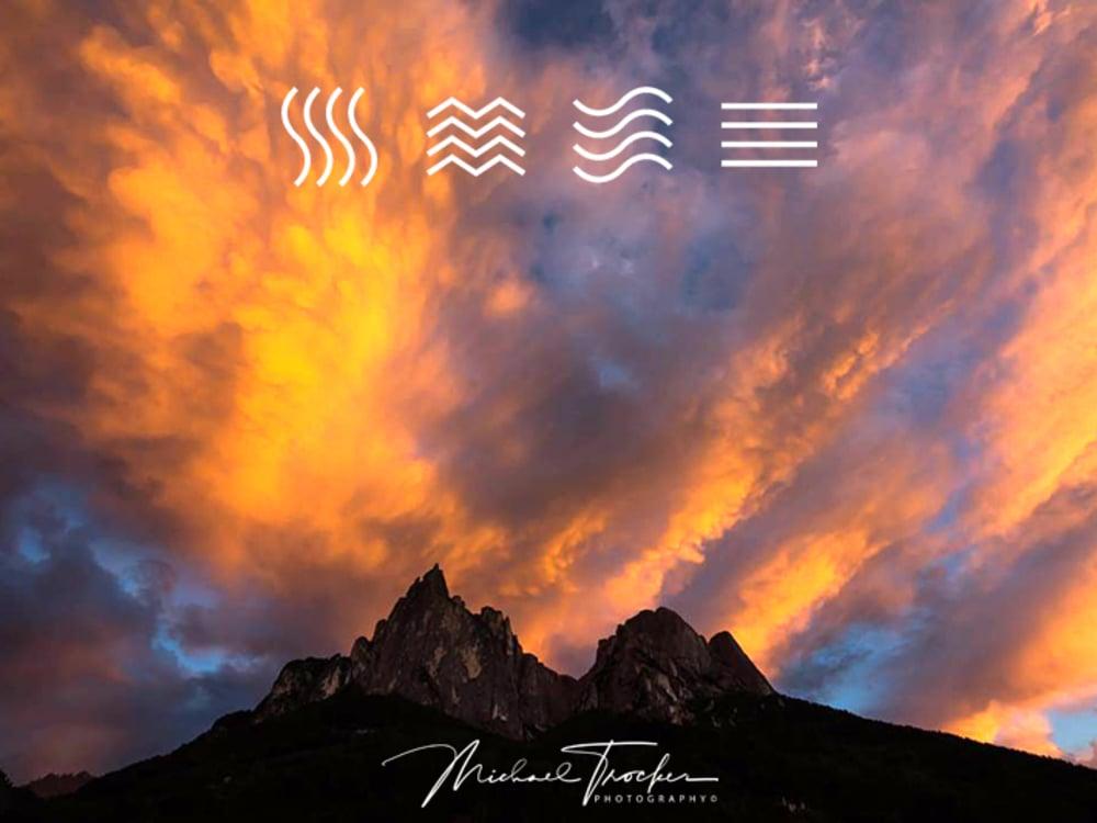 Gioco di colori delle Dolomiti