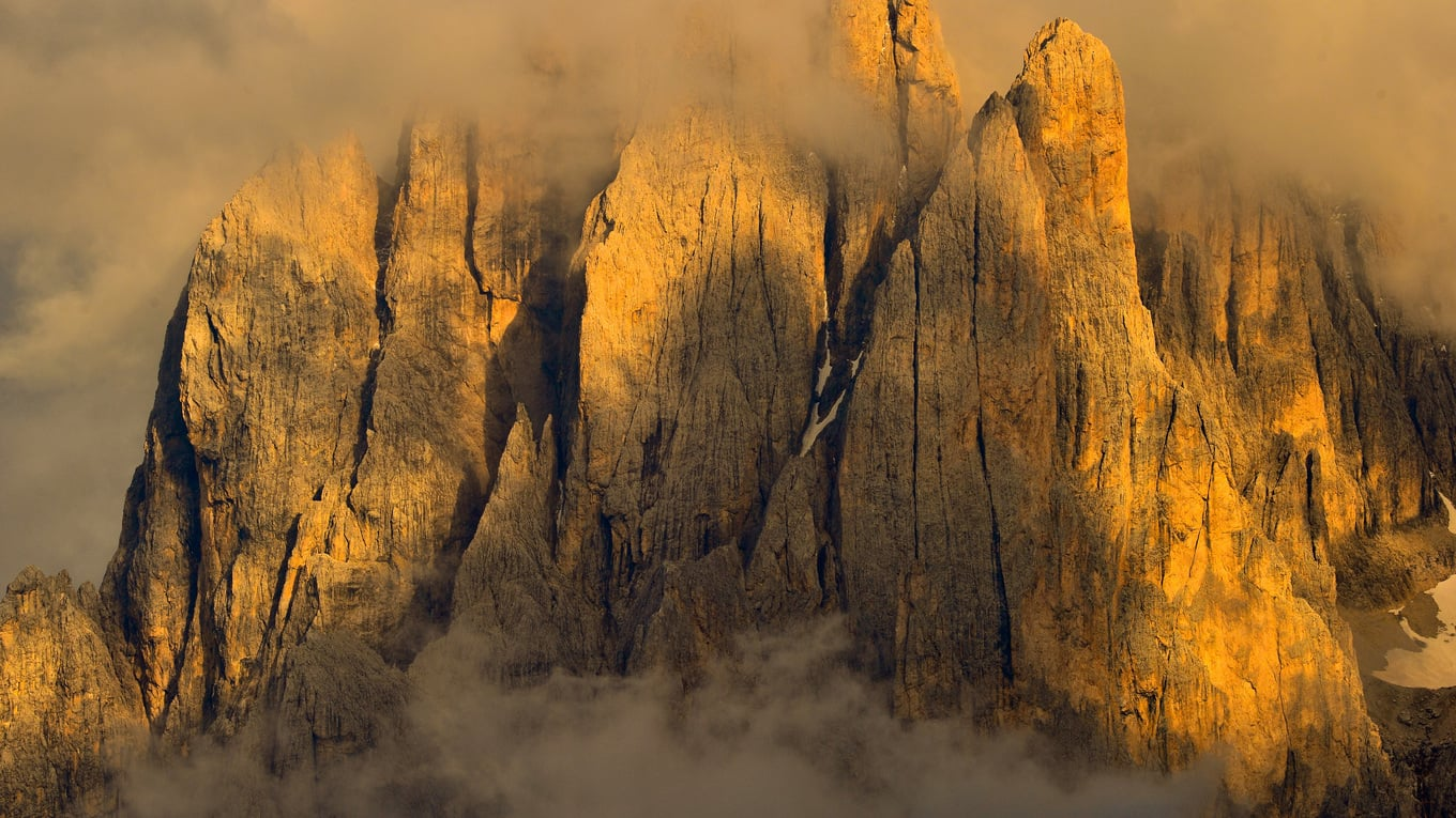 100 % #alpenglow in the Dolomites!