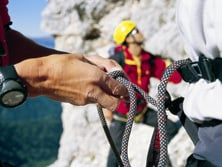Mit Seil und Gurt