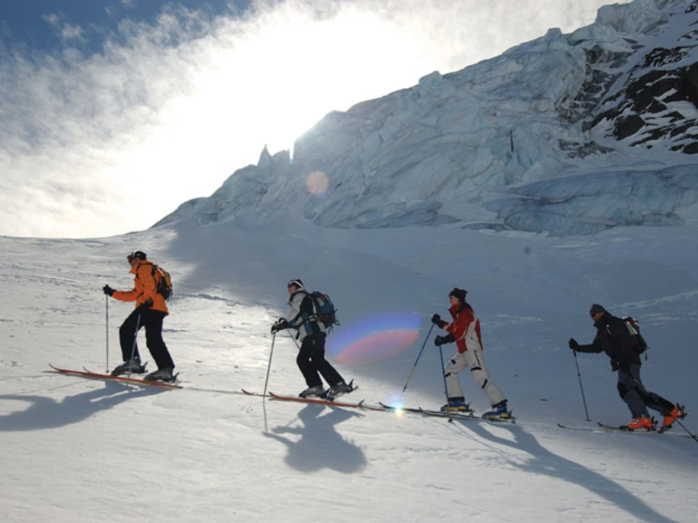 Backcountry tours in spring time