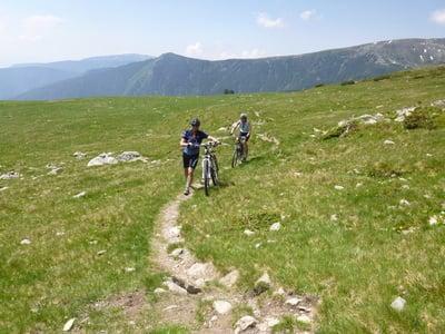 Biken auf der Feldthurner Hochalm