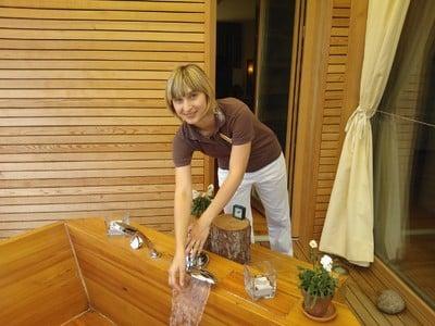 OPEN SPA Bad im Naturhotel Pfösl