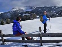 Marica's Schneeschuhwanderung von Eggen über Rauth nach Obereggen