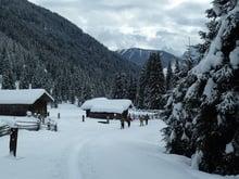 Schneeschuhwanderung durch 60 cm Pulverschnee!