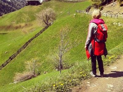Frühlingswanderung am Ultner Höfeweg