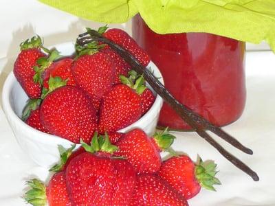 Frische Erdbeermarmelade