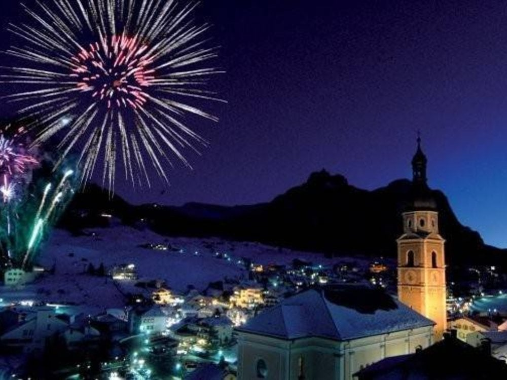 New Year in the snow-covered Dolomites