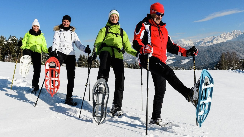 Snowshoe hiking at Pfösl