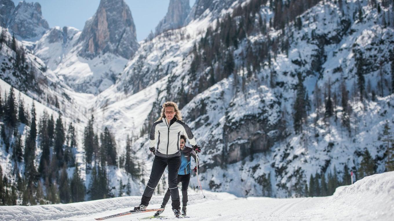 Sci di fondo nelle Dolomiti Patrimonio dell'Umanità UNESCO