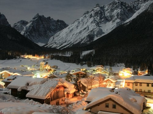 Christmas in the mountains in the Dolomites of Sesto