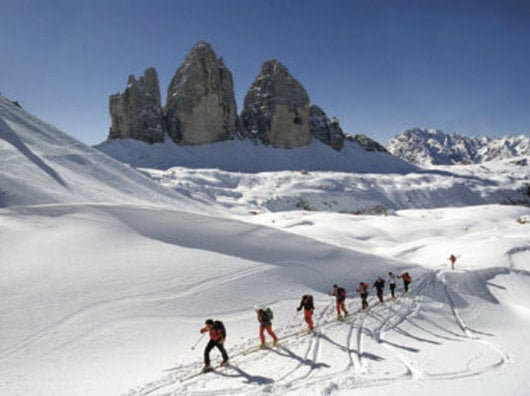 Nature & luxury - alpine skiing in th Dolomites